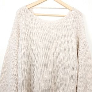 Sweaters - Japan oversized chunky balloon sweater dress O/S